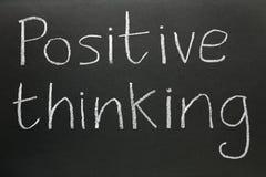 Het positieve denken. Stock Fotografie