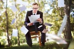 Het postbericht wikkelt meedeelt Envelop Bedrijfsconcept Stock Afbeeldingen