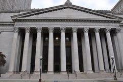Het Postkantoor en het Gerechtsgebouw van Verenigde Staten in het Nieuwe HavenUnited-Postkantoor van Staten en Gerechtsgebouw in  royalty-vrije stock foto's