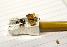 Het potlood scherpte 2 royalty-vrije stock afbeelding