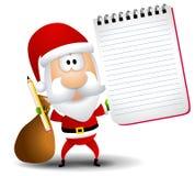 Het Potlood van de Blocnote van de Kerstman stock illustratie
