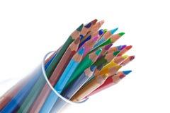 Het potlood van de kleur in glas Royalty-vrije Stock Afbeeldingen