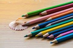 Het potlood van de kleur op witte achtergrond Royalty-vrije Stock Afbeeldingen