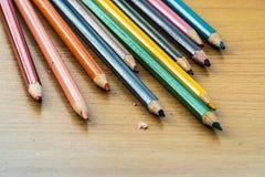 Het potlood van de kleur op witte achtergrond Stock Afbeelding