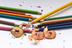 Het potlood van de kleur op witte achtergrond Stock Foto