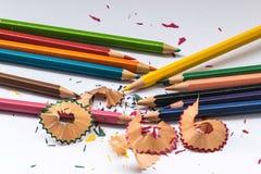 Het potlood van de kleur op witte achtergrond Stock Afbeeldingen