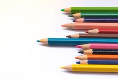 Het potlood van de kleur op witte achtergrond Royalty-vrije Stock Foto's