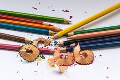 Het potlood van de kleur op witte achtergrond Royalty-vrije Stock Foto