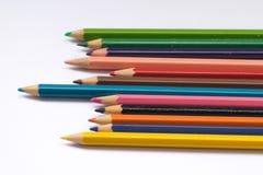 Het potlood van de kleur op witte achtergrond Stock Foto's
