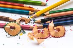Het potlood van de kleur op witte achtergrond Royalty-vrije Stock Afbeelding