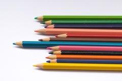 Het potlood van de kleur op witte achtergrond Royalty-vrije Stock Fotografie