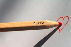 Het Potlood van de liefde Royalty-vrije Stock Foto's