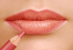 Het potlood van de lippenstift Royalty-vrije Stock Afbeelding