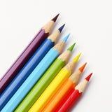 Het potlood van de regenboog Stock Afbeeldingen