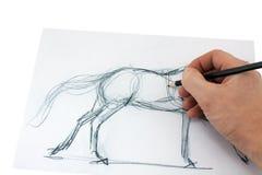 Het potlood van de tekening Royalty-vrije Stock Afbeeldingen