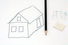 Het potlood van de tekening Stock Foto