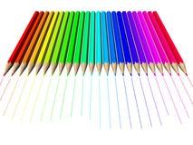 Het potlood van het kleurpotlood Stock Fotografie