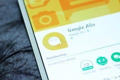 Het praatje mobiele app van Google allo Royalty-vrije Stock Foto
