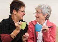 Het Praatje van de koffie royalty-vrije stock afbeeldingen