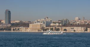 Het prachtige Dolmabahçe-Paleis, Istanboel royalty-vrije stock foto's