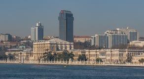 Het prachtige Dolmabahçe-Paleis, Istanboel stock foto