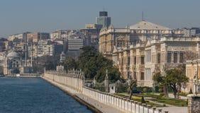 Het prachtige Dolmabahçe-Paleis, Istanboel stock afbeeldingen