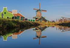 Het prachtige dorp van Zaanse Schans, Netherland royalty-vrije stock foto