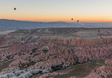 Het prachtige landschap van Cappadocia, Turkije stock afbeeldingen