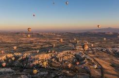 Het prachtige landschap van Cappadocia, Turkije royalty-vrije stock foto