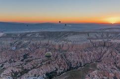 Het prachtige landschap van Cappadocia, Turkije stock afbeelding