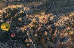 Het prachtige landschap van Cappadocia, Turkije stock fotografie