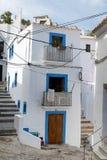 Het prachtige Mediterrane hoogtepunt van de stijlhuisvesting van karakter Stock Foto's