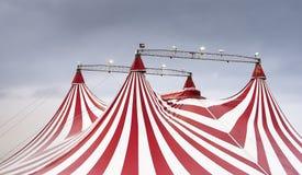 Het prachtige schouwspel van het circus stock fotografie