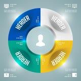 Het prachtige Vectormalplaatje van Infographics. Cirkelsdiagram. Het vectoreps10-Ontwerp van de Conceptenillustratie Stock Foto