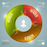 Het prachtige Vectormalplaatje van Infographics. Cirkelsgrafiek. Het vectoreps10-Ontwerp van de Conceptenillustratie Stock Afbeeldingen