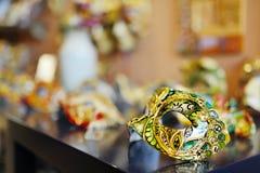 Het prachtige Venetiaanse masker van Carnaval Stock Foto