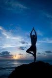 Het praktizeren joga Royalty-vrije Stock Foto's