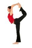 Het praktizeren van de vrouw yoga Stock Foto