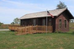 Het pre depot van de de eratrein van de Burgeroorlog, Colfax, Iowa Royalty-vrije Stock Foto