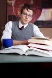 Het Preppy student bestuderen Royalty-vrije Stock Foto's