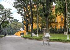 Het Presidentiële die Paleis van Vietnam, in de stad van Hanoi wordt gevestigd, werd gebouwd tussen 1900 en 1906 om Franse gouver stock foto's