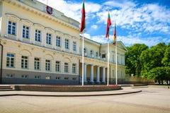 Het presidentiële Paleis van Litouwen royalty-vrije stock foto