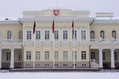 Het presidentiële Paleis in Vilnius Stock Afbeeldingen