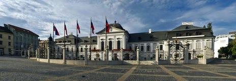Het presidentiële panorama van paleisBratislava Stock Foto's