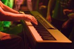 Het Presteren van Keyboarder royalty-vrije stock foto's