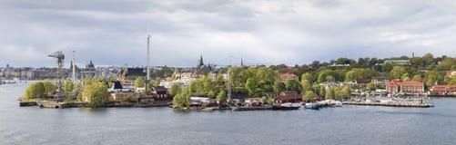 Het pretpark Grona Lund, Stockholm van de mening Royalty-vrije Stock Afbeelding