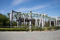 Het pretpark, moderne architectuur Royalty-vrije Stock Afbeeldingen