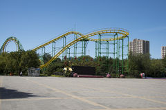 Het pretpark, moderne architectuur Stock Fotografie