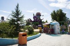 Het pretpark, moderne architectuur Stock Foto
