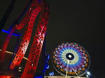 Het pretpark van de nacht Stock Fotografie